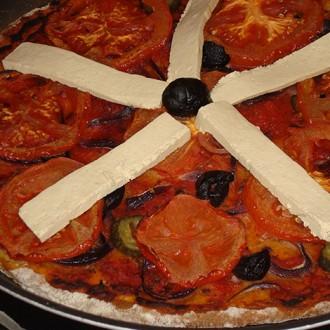 Веган пица с домати